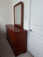 Dresser with mirror, 5-Chest Drawer & Side Tables