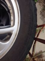 """Michelin HydroEdge 16"""" tires with rims"""