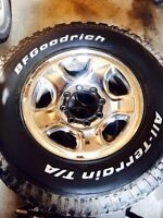 17 in dodge 8 bolt rims and tires