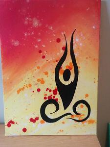 Yoga lotus pose abstract Art Painting