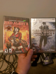 Call of duty wow and red alert 3 unopened sealed
