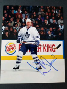 Dave Manson Autographed Toronto Maple Leafs 8x10