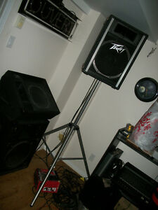 PEAVEY SOUND SYSTEM * MIXER * SPEAKERS * STANDS * MONITOR * ETC.