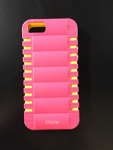 IHome brand iphone 5s case (pink and yellow) - pre-owned