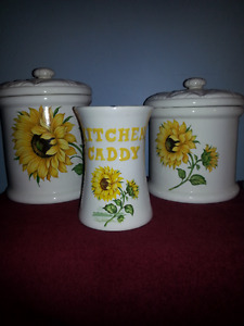 Sunflower Canister Set