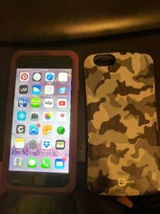 iPhone 6 - 64 Gig with Apple charger and Otterbox Commuter Case