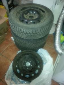 4 Rims / roues / jantes acier noir 16po 5 x 114.3