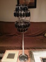 1920`s Style Black Crystals Lamp