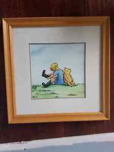 Vintage Classic Winnie the Pooh Framed Prints