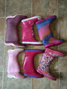 LOTS of used child rubber boots kids size 10, 11,12,13,1, 2, 3
