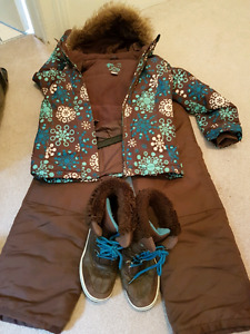 Girls snowsuit and winter boots