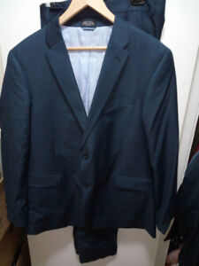 TOMMY HILFIGER wool Suit in navy blue
