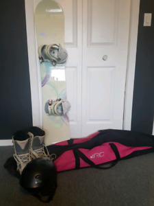 K2 Snowboard, boots and bag