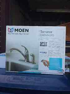 MOEN TORRANCE  STAINLESS KITCHEN FAUCET WITH VEGETABLE SPRAY