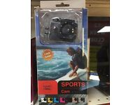 HD sports camera Waterproof Full HD, Memory Card Expansion, vloging, family videos Near new