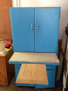 Antique Kitchan cabinet and cupoboard with countertop set