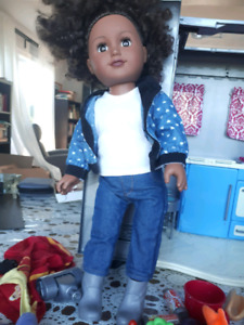 """18"""" Doll, Camper and Accessories"""