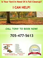 Book Your Fall Cleanup Now! (Lawn Care)