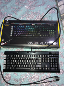 CORSAIR K95 RGB PLATINUM GAMING KEYBOARD - MX SPEED KEYS!
