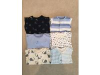 New born/first size baby boys bundle sleepsuits