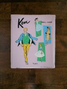 Vintage 1961 Mattel Barie's Ken Doll Fashion Carrying Case