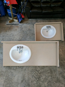 Bathroom counters and sinks