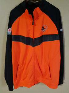 CFL Authentic Sideline Reebok BC Lions zip up Jacket 2XL