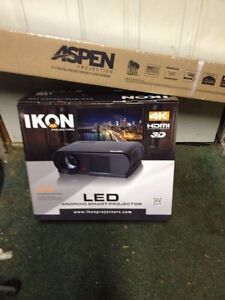 "IKON ik900 Projector Android 3D and 4k with 72"" screen"