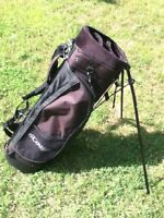 Carry golf bag with stand