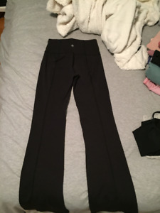 Lululemon High Waisted Black Yoga Pants Size 4