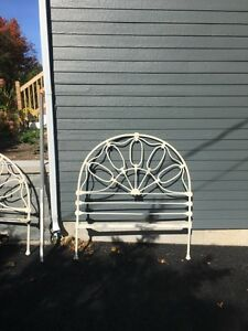 Antique iron bed frame
