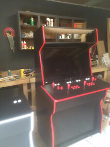 4 player arcade cabinet with game board loaded & 40' monitor
