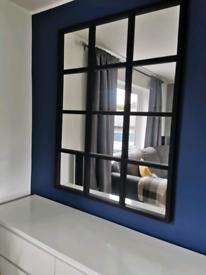 Handmade wooden window mirror 135cm by 101cm