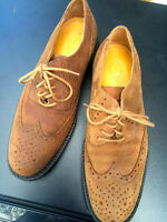Size 12 Men's Leather Wingtip Shoes