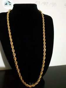 "24"" 7mm goldfilled rope chain"