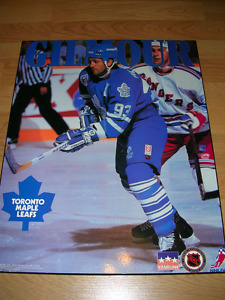 Doug Gilmour, Toronto Maple Leafs picture board from 1993.