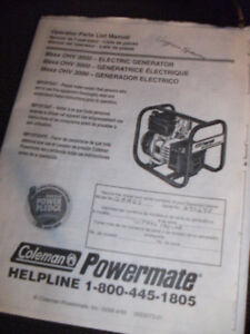 Coleman Generator ..Power Mate ...