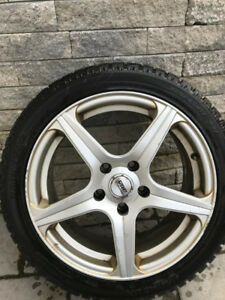 Winter Tires and Rims 225/45/17 IPIKE (195/65/15 Kebek tires)