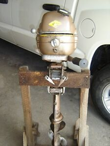 Vintage 5hp Outboard Fishing Motor