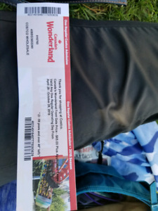 Canada's Wonderland ticket