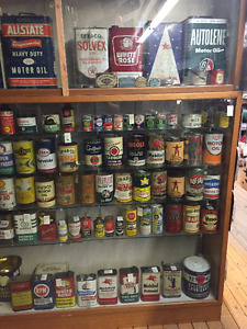 ANTIQUE MALL-TINS AND CANS