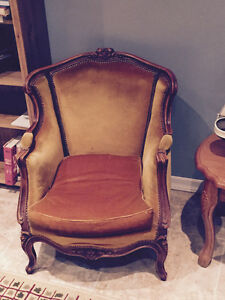 Louis XV Style Sofa and 2 Bergere Chairs