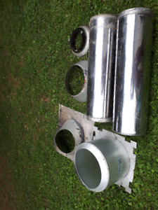 2 stainless steel 7in stove pipes