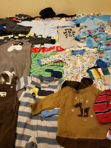Baby boy clothes+ more mostly 6 to 12 months