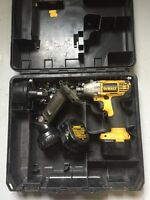 Dewalt half inch 12v drive impact three batteries flashlight