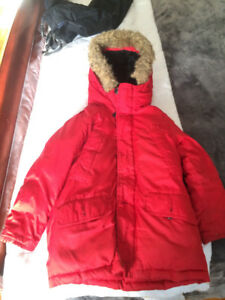 Boy's red parka from the Gap for sale