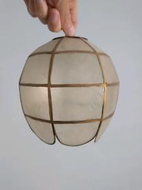 Vintage Original Capiz Shell Ceiling Lampshade