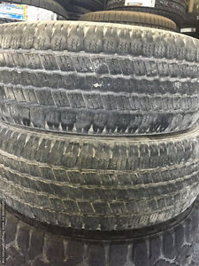Two Used 275 / 60 R20 Goodyear Wrangler SR A Tires