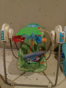 Baby swing and bath chair