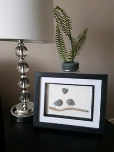 Lovebirds Pebble Art